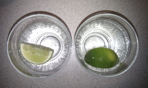 Soda water and lime