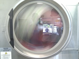 Man in a dryer